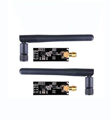 DollaTek 2pcs NRF24L01 + PA + LNA Module émetteur-récepteur RF sans Fil 2.4G 1100m avec antenne en Mousse Antistatique Compatible Arduino