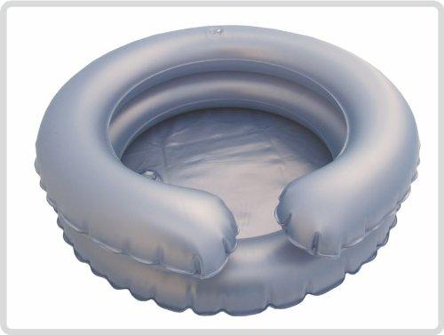 Kopfwaschwanne, Haarwaschwanne mit Ablaufschlauch mit Ablaufschlauch aufblasbar 2reihig, rund - Haarwaschbecken Bettwaschwanne