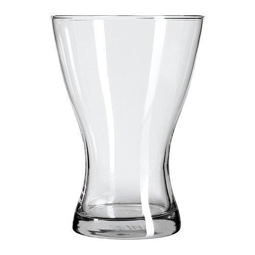 Ikea vasen, vaso in vetro trasparente, 20cm