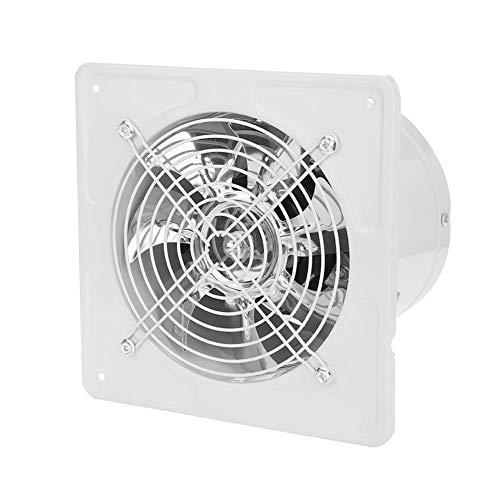 Ventilador de escape, 190 mm 40 W 220 V Ventilador de escape montado en la pared Bajo nivel de ruido Hogar Baño Cocina Garaje Ventilación de aire Ventilación para baño Aseo Cocina Garaje(Blanco)