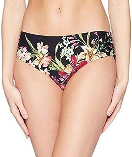 Carmen Marc Valvo Women's Bikini Bottom Swimsuit with Shirred Detail Black Medium [並行輸入品]