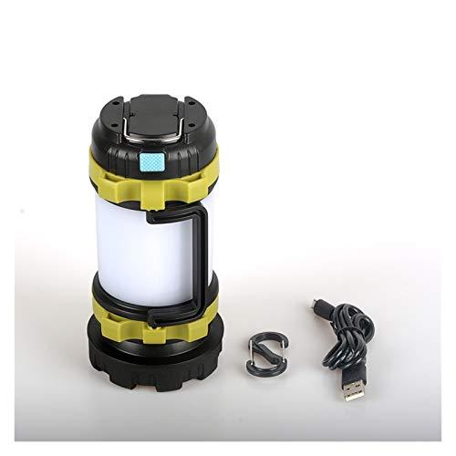 80W LED Lámpara de camping USB Linterna recargable USB Foco regulable Portátil TRABAJO LUZ DE LUZ DE FUERZA A prueba de agua Luz de emergencia (Emitting Color : A)