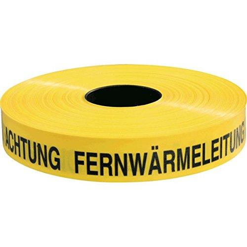 LEMAX® Trassenwarnband Achtung Fernwärmeleitung, gelb, Polyethylen, 40mm, 250m/Rolle