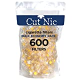Cut-Nic 8 Hole Easy Draw Disposable Cigarette Filters - Bulk Economy Pack (600 Per Pack)