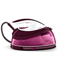 Philips PerfectCare Compact Steam Generator Iron with 400g steam Boost, 2400 W, Burgundy & White - G...