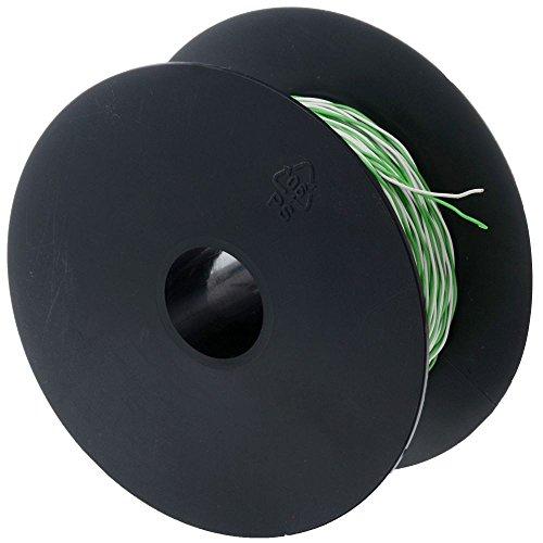 Schaltdraht YV 2x0,5/0,9 weiß/grün, 100 m