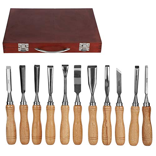 Annjom Herramientas manuales ergonómicas para carpintero, herramientas profesionales para tallar madera de...