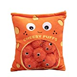 MYYL Cheese Puff Soft Toy, Cheese Puff Plushies, Plush Cheesy Puffs Cushion, Food Pillows Cheese...