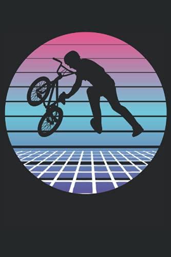 BMX Fahrer Sprung Retro Vintage BMX Rad Geschenk Notizbuch (Taschenbuch DIN A 5 Format Liniert): BMX Bike Geschenk Notizheft, Schreibheft, Tagebuch. ... Rad Retro Motiv für Damen, Herren und Kinder.