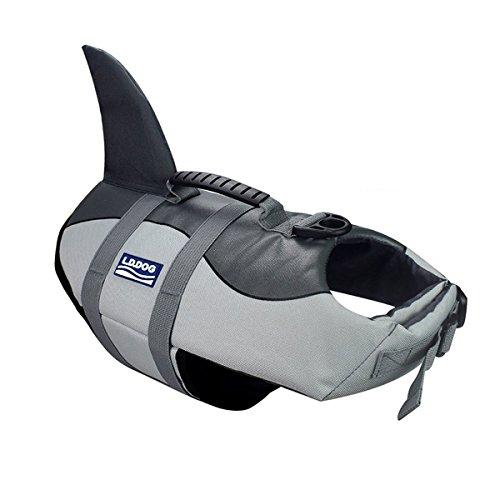 Aokay Pet Hundeschwimmweste Schwimmweste Badeanzug (S, Grau)