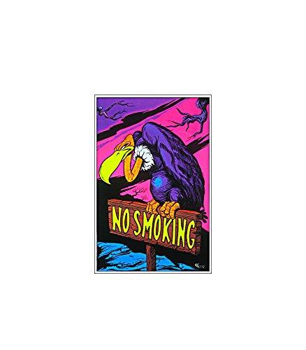 No Smoking Vulture Blacklight Poster Print - 24x36 Blacklight Poster Print, 23x35