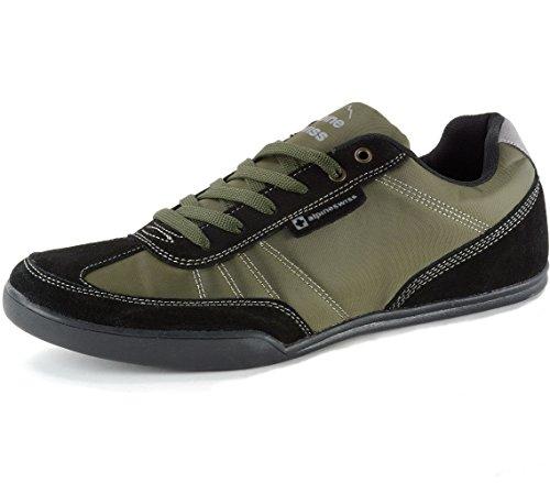 Alpine Swiss Marco Mens Suede Trim Retro Fashion Tennis Shoes Olive 9 M US