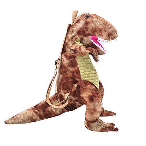 3D Dinosaurier Rucksäcke Dasongff Kinder Rucksäcke Schule Taschen Karikatur Kind Rucksack Dinosaur Puppe Plüsch Bookbag Backpack Große Eltern-Kind-Reisetasche