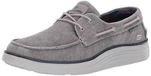 Skechers Men's Status 2.0-LORANO Moccasins, Grey (Light Grey Ltgy), 10 (45 EU)