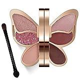 Erinde Butterfly Eyeshadow Palette Makeup, Matte Shimmer Metallic Eye Makeup Palette, Highly Pigmented, Naturing-Looking, Blendable Long Lasting Waterproof Eye Shadow Palette, Travel Size Makeup SET D
