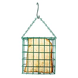 Flybloom Green Square Bread Block Bird Feeder Outdoor Bird Food Device Bird Cage(Green)