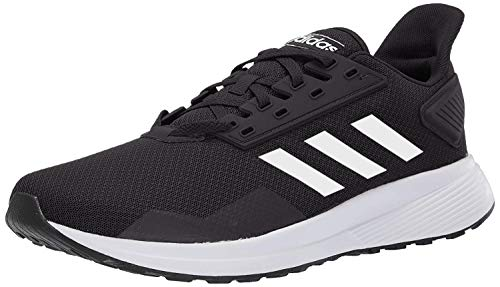 adidas Men's Duramo 9 Running Shoe, Black/White, 6.5 M US