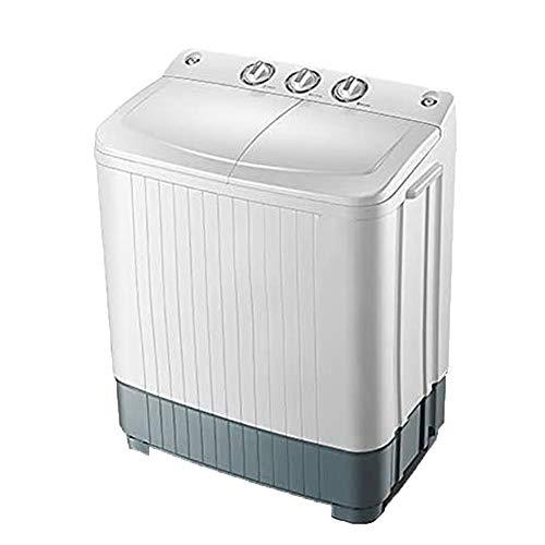 COUYY Semi-automático de 6/9 kg de Doble Capacidad de Doble Barril doméstico Mini Lavadora pequeña con Secado por spin,6kg