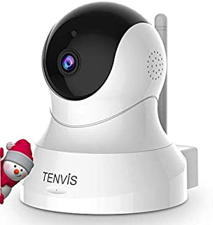 TENVIS 1080P Security Camera - Wireless Camera, IP Camera with Night Vision, 2-Way Audio, 2.4Ghz WiFi Indoor Home Dome Cam...