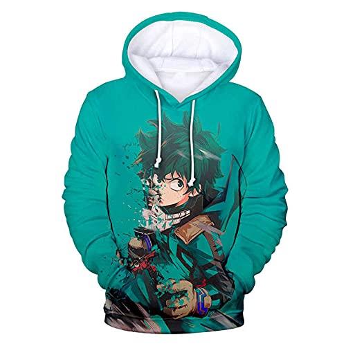 WANGWENJIAO My Hero Academia 3D Print Hoodie Sudaderas Hombres Mujeres Moda Casual Pullover Anime Streetwear Sudaderas con Capucha De Gran Tamaño-8_M