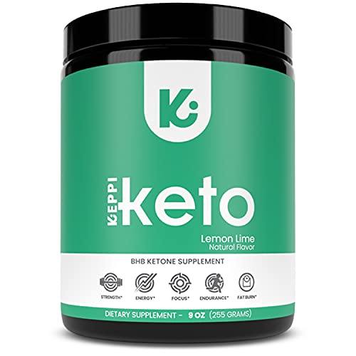 KEPPI Exogenous Ketones Keto Salts BHB Powder Supplement: Ketone Supplement Formulated to Increase Energy, Burn Fat, Maintain Ketosis and Mental Focus Lemon Lime