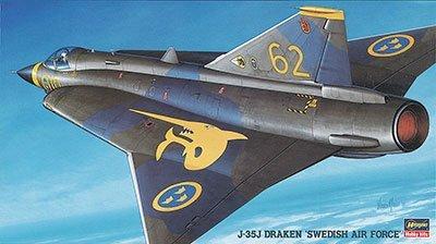 ハセガワ 1/72 スウェーデン空軍 J-35J ドラケン プラモデル BP3