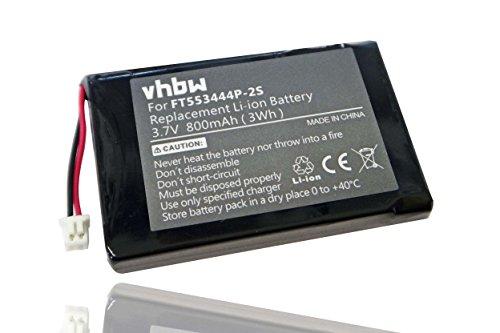 vhbw Li-Ion Akku 800mAh (3.7V) für Funkgerät, Walkie Talkie Stabo Freecomm 600 Set, PMR 446, 20640, Topcom Twintalker 7100 wie FT553444P-2S.