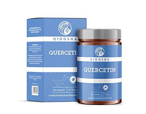 QIDOSHA Quercetin Kapseln hochdosiert 510mg Quercetin pro Kapsel aus 95% Quercetin Extrakt, vegan, laborgeprüft, 120 Kapseln im Glas