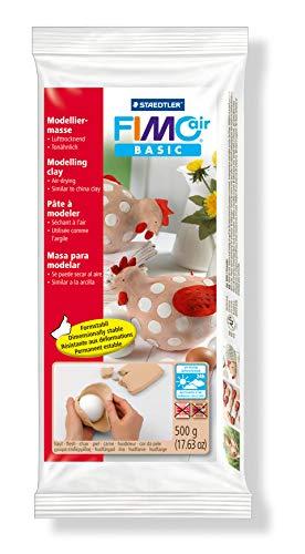 STAEDTLER 8100-43. Pasta para modelar de secado al aire Fimo air basic. Una pastilla de color carne, Rosa, 500 g
