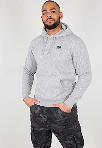 ALPHA INDUSTRIES Herren Hoodies Small Logo Basic grau M