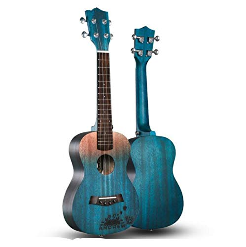 KEPOHK 23-Zoll-Ukulele 11 Modle Mahagoni Hawaiian Small Guitar Viersaitige Gitarre mit Tasche und Pick 23-Zoll-ESets