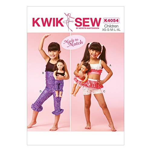 Engels patroon KwikSew 4054 kinderen maat 104-152