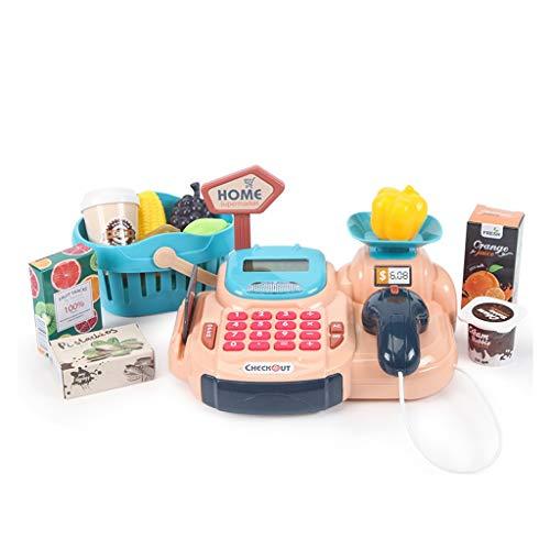 Juguetes de cocina, juego de juguetes Happy Little Chef pretends to Play with Toys, juego de cocina, supermercado caja registradora juguete (color: rosa)