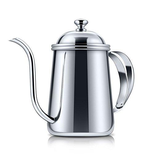 ZFXXN 650ml Kaffee Tropf Kessel, Edelstahl, verdickte, für handgemachte Dripping-Kaffee-Tee