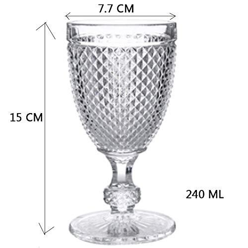 Wijnsnede bruiloft champagne glas party sap Goblet creatief reliëf Europese diamant zonder lood 240ml Transparent