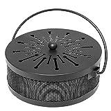 Soporte para varillas de incienso, recipiente en espiral antimosquitos, diseño clásico, portátil, metálico