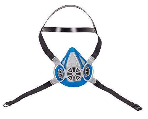 MSA 815692 Advantage 200 LS Half-Mask Respirator with 2 Piece Neckstrap, Medium,Blue