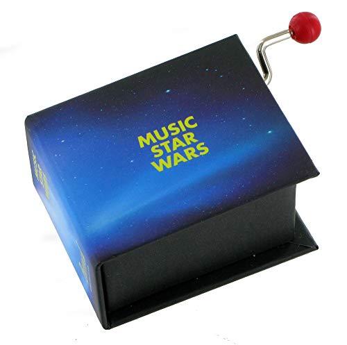 Caja de música/caja musical de manivela de cartón en forma de libro - Tema principal de La guerra de las galaxias - Star Wars (John Williams)