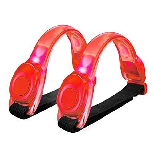 Set de Deportes al Aire Libre, led Brazalete Luminoso Brazalete de Silicona Luminoso Ciclismo Corriendo cinturón de Brazo Deportivo para Ciclismo Jogging Perro Noche Corriendo Rojo 2pcs