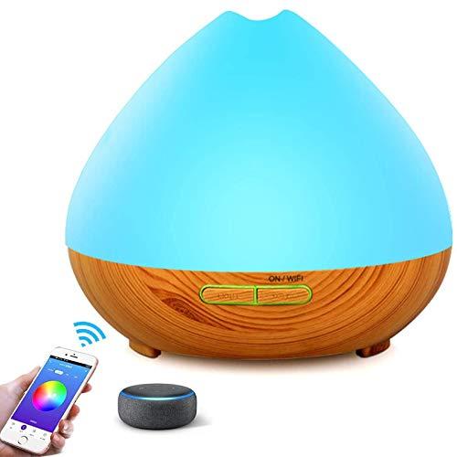 Humidificador Ultrasónico Aromaterapia Portátil RabbitStorm Difusores de Aromaterapia de Aceite Esencial Inalámbrico Wifi Inteligente - Alexa & Google Home Compatible - 400ml -...