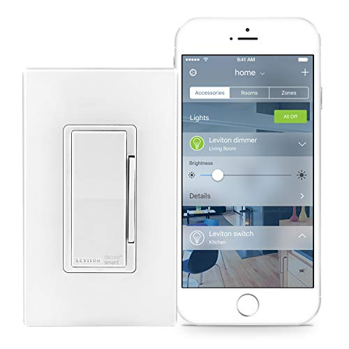 Leviton DH6HD-1BZ 600W Decora Smart Dimmer, Works with Apple HomeKit