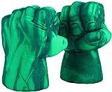 Superhero Boxing Gloves Smash Hands Fists Incredible Superheros Soft Plush Toys Cosplay Superhero Costume Gloves, Birthday Gifts for Kids, Teens, Girls Boys. (1 Pair, Green)
