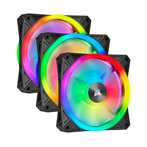 Corsair QL Series, Ql120 RGB, 120mm RGB LED Fan, Triple Pack with Lighting Node Core (Personal ...