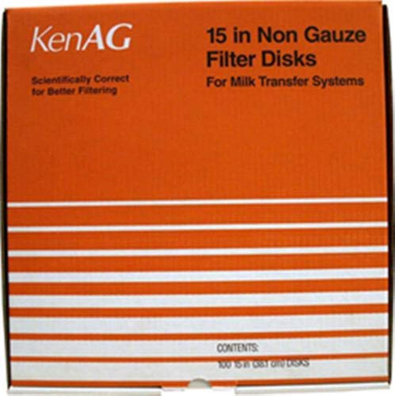 KEN AG D532 030957 Non Gauze Disk Milk Filter, Tan