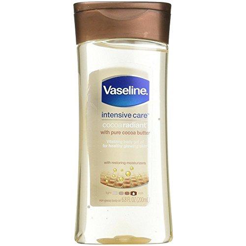 Vaseline Intensive Care Gel Cocoa Radiant Oil 6.8 Ounce (201ml) (6 Pack)