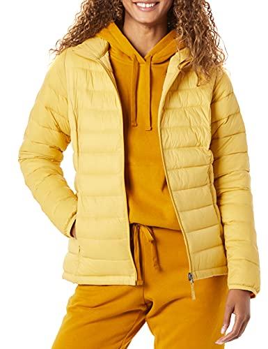 Amazon Essentials Lightweight Water-Resistant Packable Puffer Jacket Chaqueta, Amarillo Oscuro, XXL