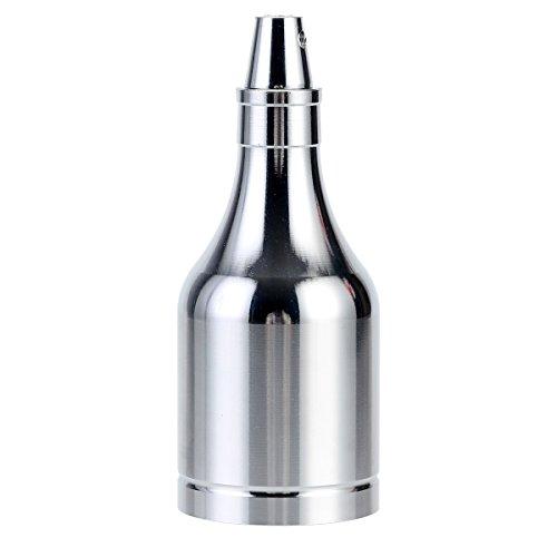 GreenSun Retro Flasche Style Edison E27 Lampenfassung Beleuchtung Lampen Sockel Alu Fassung Socket für Pendelleuchte Hängelampe DIY Adapter,1er Silber