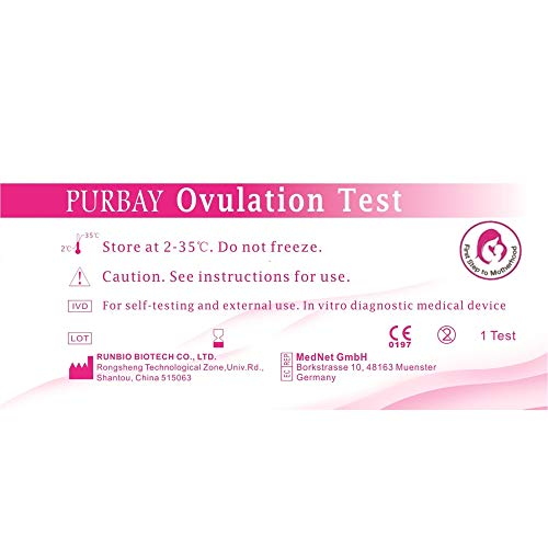 50 x Purbay Ovulationstest Streifen 10 miu/ml LH ovulation test