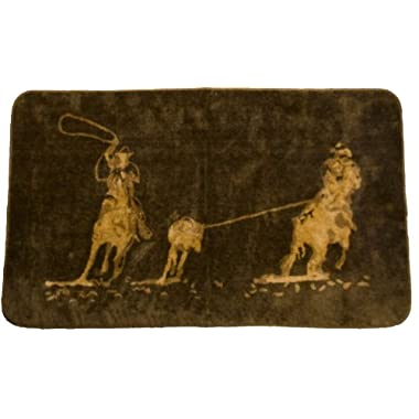 HiEnd Accents Team Roping Kitchen Bath Western Rug