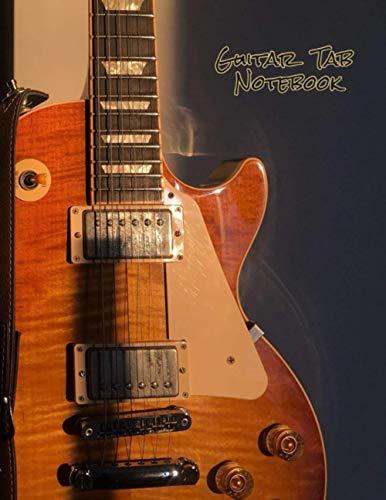 Guitar Tab Notebook: blank sheet music book / guitar tab sheet /sheet music paper 8.5 x 11 (Guitar cover Vo.1)
